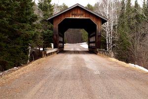 Snowy Covered Bridge Wisconsin