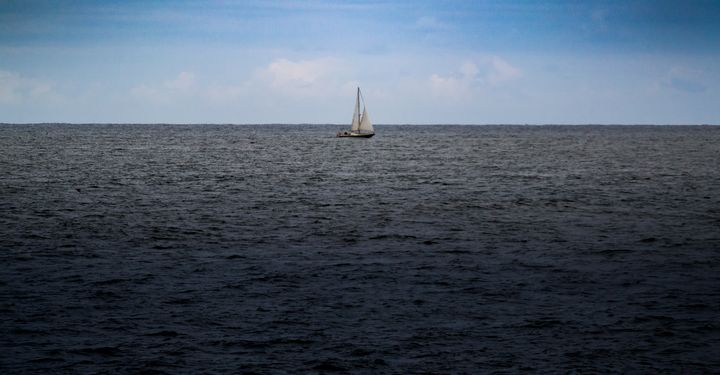 Sailboat on the ocean - S. Lyons Photography