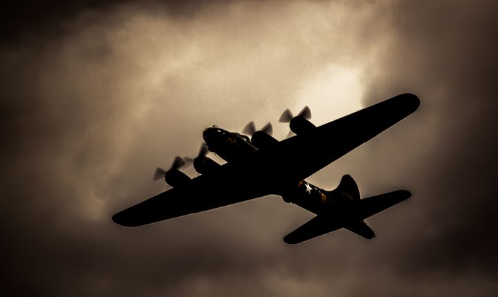 Flying Fortress Sally B Shadow - S. Lyons Photography