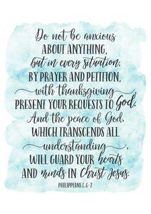 Philippians 4:6-7, Bible Verse Print