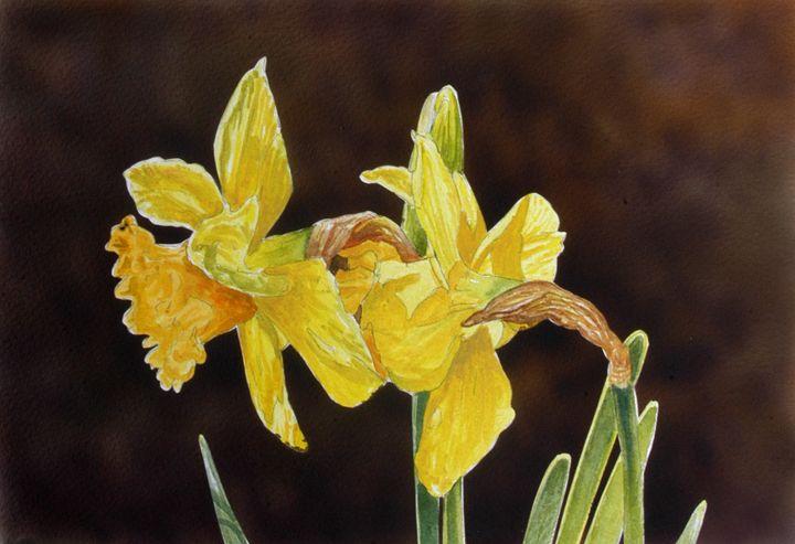 """Yellow Daffodils"" - Hughes Twins Art"