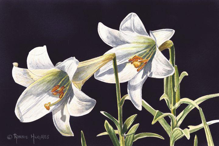 """Easter Lilies"" - Hughes Twins Art"