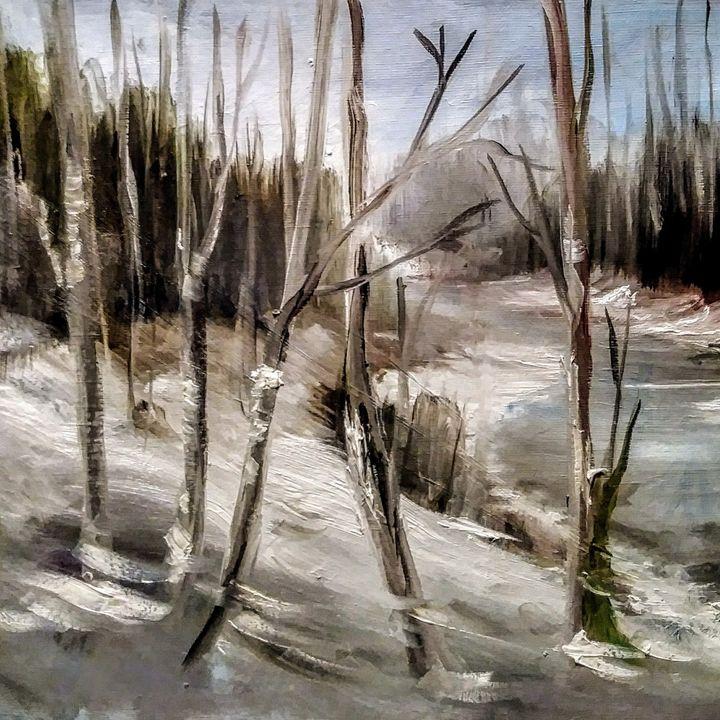 Frozen Creek - Joyce Jenner Fine Art