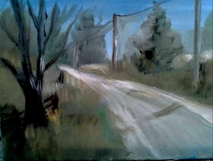 Walking on Brant School Road - Joyce Jenner Fine Art
