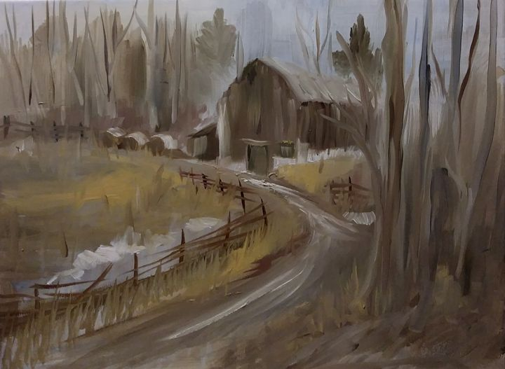 Back Road Barn - Joyce Jenner Fine Art