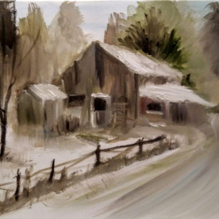 Old shed - Joyce Jenner Fine Art