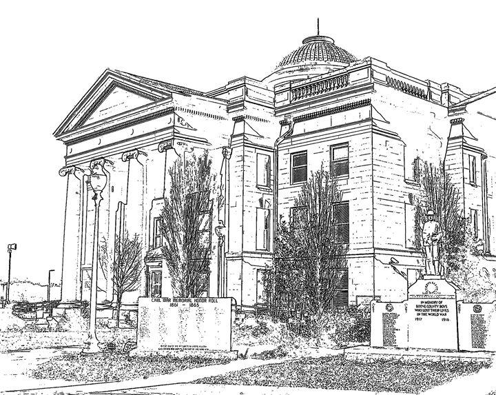 Boone County Missouri Courthouse - JonesArtWorkS