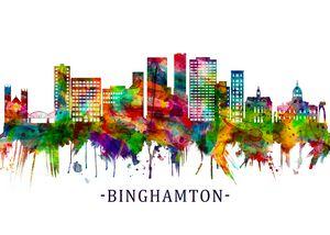 Binghamton New York Skyline
