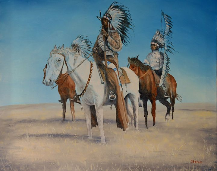Native Americans on Horseback - Stefon Marc