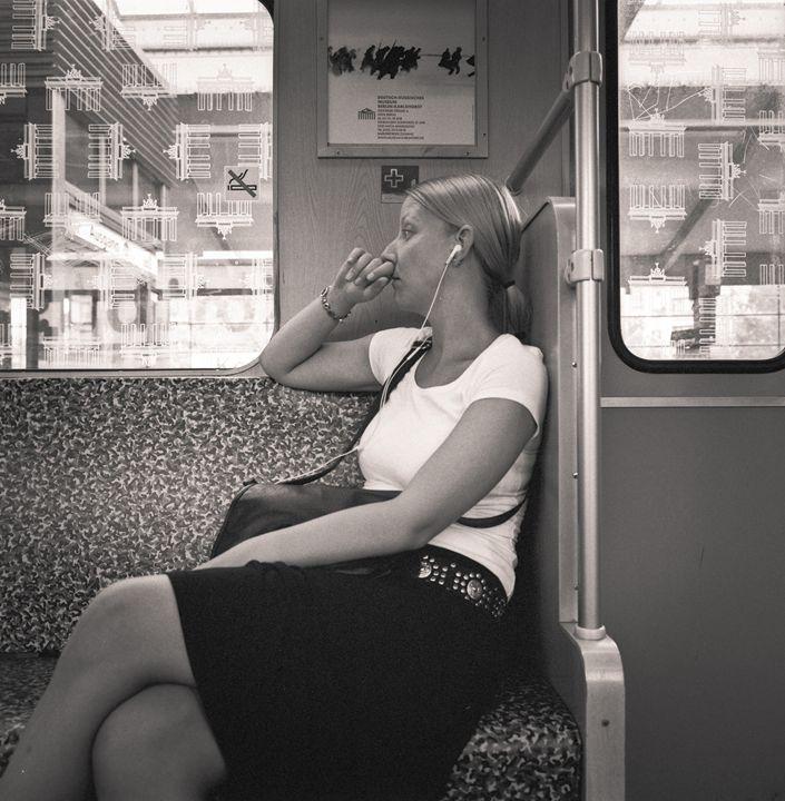 Berlin: woman on ubahn - Ron Greer Photography