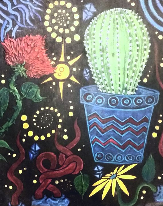 AZTEC CACTUS FLOWER - Sean David Crisci