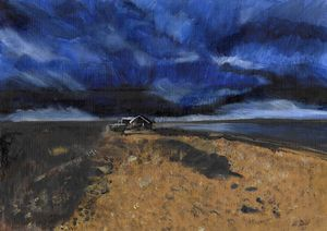 Thunderstorm No. 1 at the beach SOLD