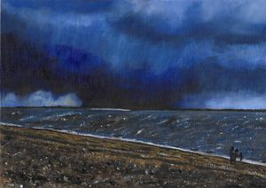Thunderstorm on the beach No 2 SOLD