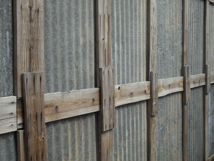 Wood and metal fence - Simon Goodwin
