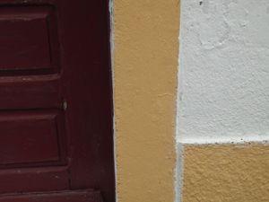 Maroon door