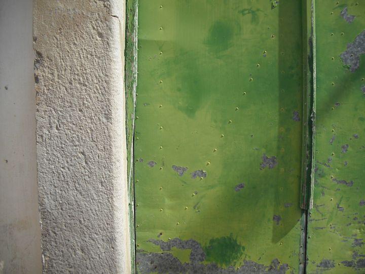 Green garage door - Simon Goodwin