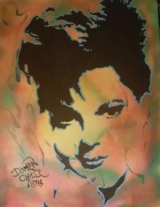 Judy Garland portrait - Dark Castle Art
