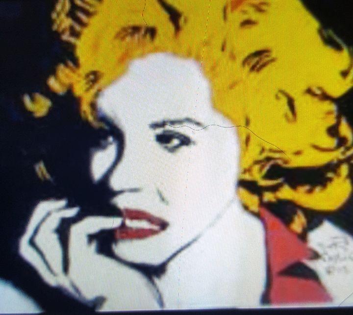 Marilyn Monroe portrait #1 - Dark Castle Art
