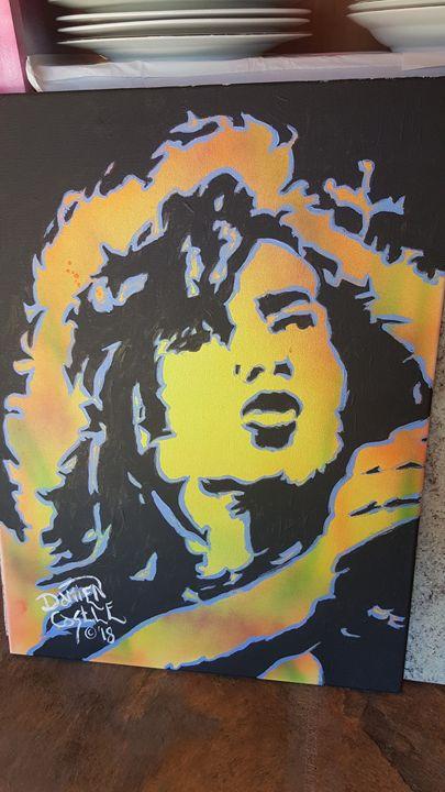 Jimmy Page of Led Zeppelin #6 - Dark Castle Art