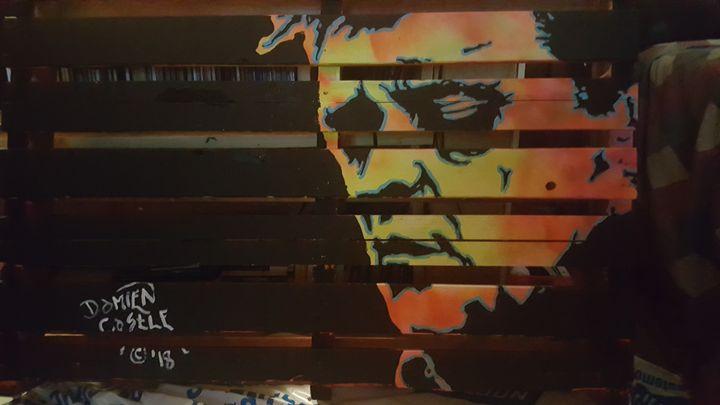 Johnny Cash on a Pallet - Dark Castle Art