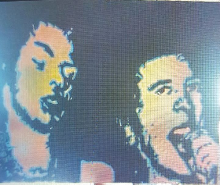 Sid Vicious and Johnny Rotten - Dark Castle Art