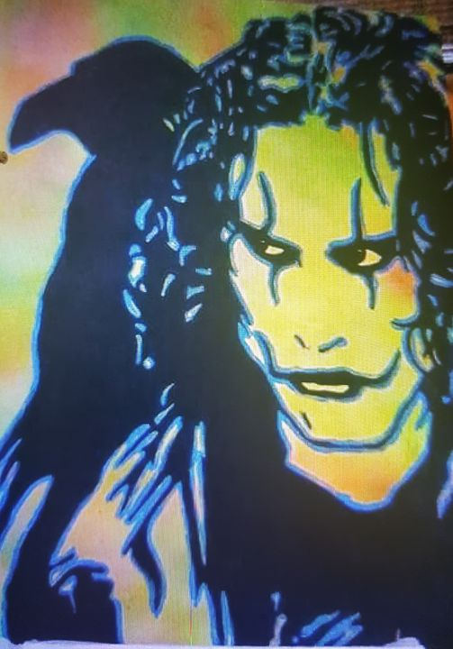 Brandon Lee as The Crow - Dark Castle Art