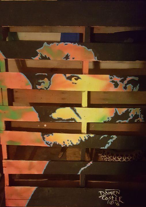 Willie Nelson on a Pallet - Dark Castle Art
