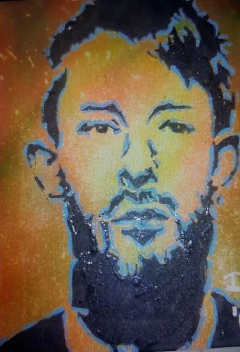 Thom Yorke of Radiohead - Dark Castle Art
