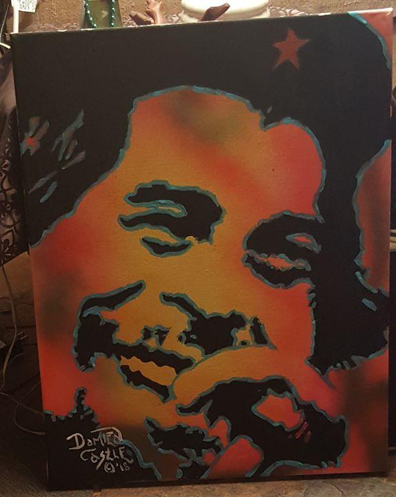 Che Guevara portrait - Dark Castle Art