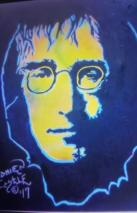 John Lennon portrait - Dark Castle Art