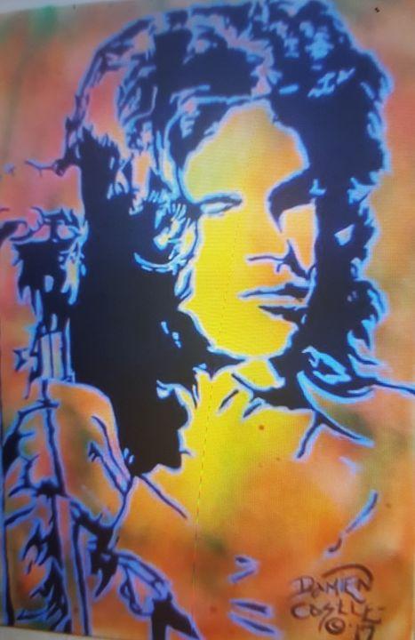 Jim Morrison portrait - Dark Castle Art