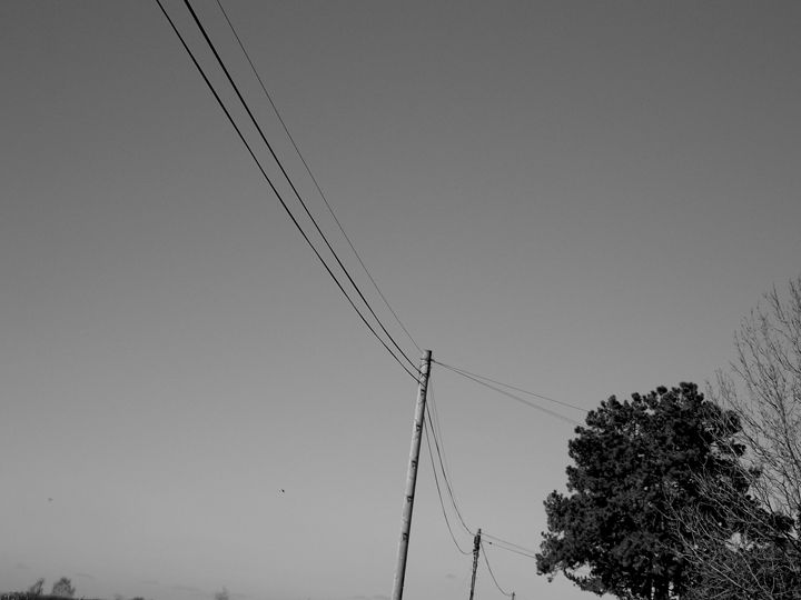 Cable Lines along a country road - S Koning