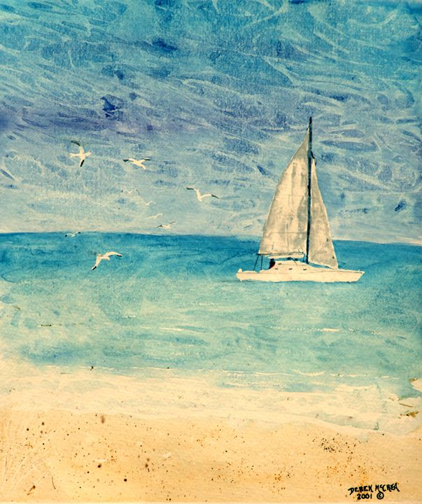 Sailing - Watercolor-Art