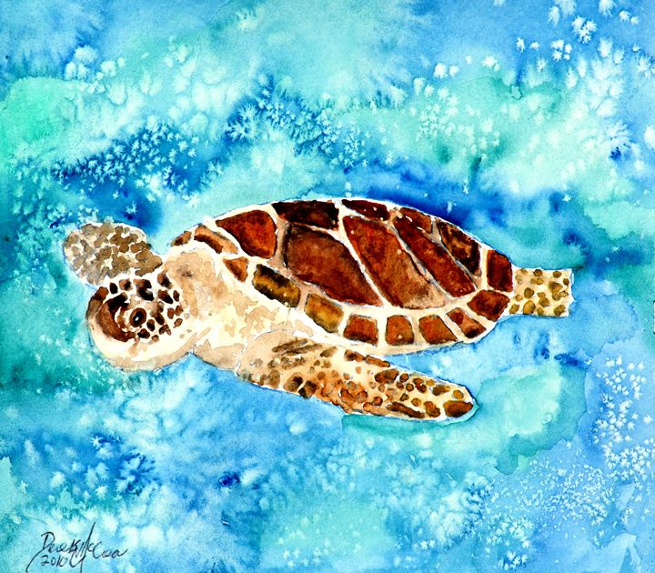 sea turtle - Watercolor-Art