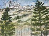 Mountain landscape signed art print