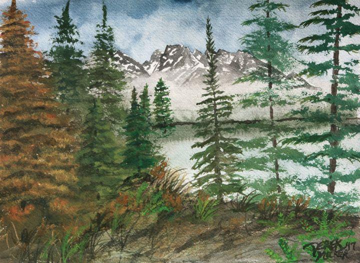 Landscape Watercolor Painting Winter - Watercolor-Art