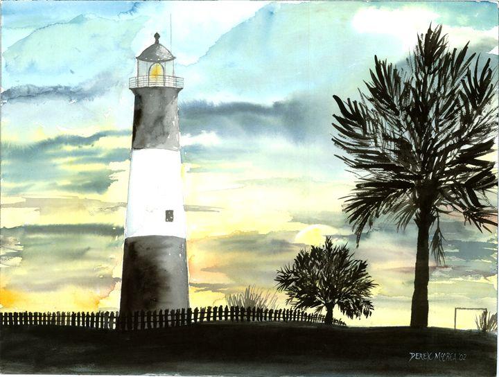 Tybee Island Lighthouse - Watercolor-Art