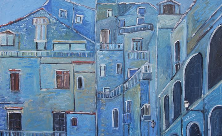 Blue Buildings, Italy - Rudy Milante