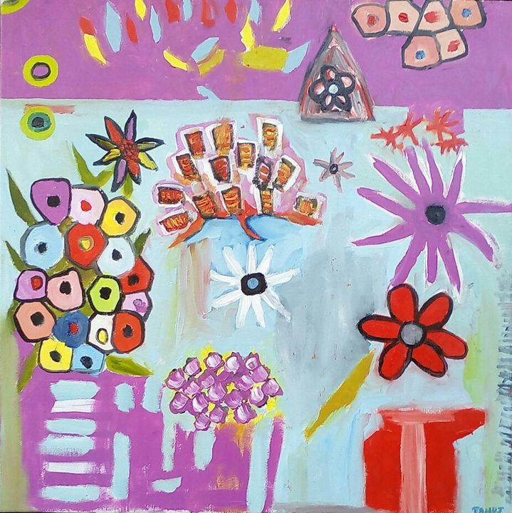 Abstract flowers - Tanuj