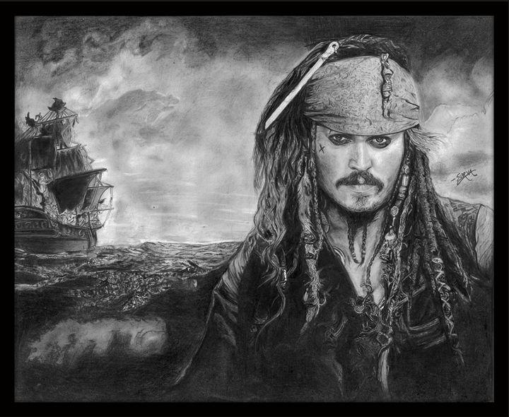 Captain Jack Sparrow - Surya Balu's Art Corner