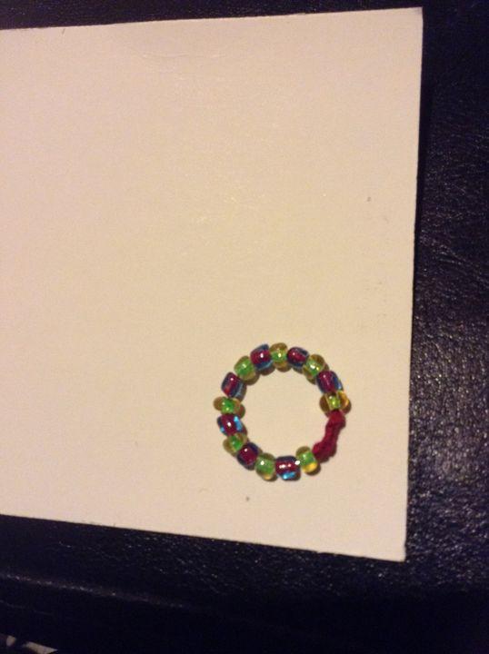 Beaded ring - Dark beauty