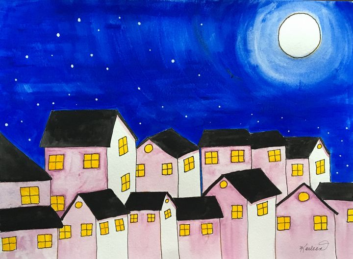 Full Moon Night - Art by Karleen