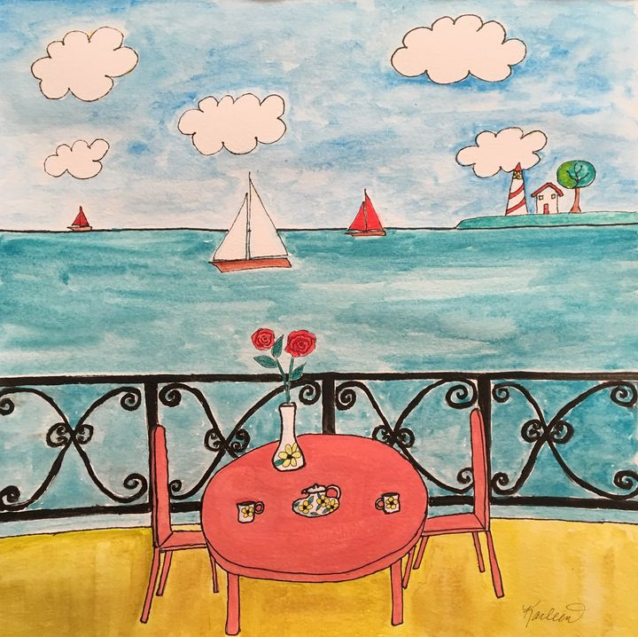 From the Balcony - Art by Karleen