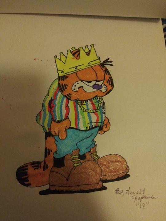 King Garfield - Terrell cartoons