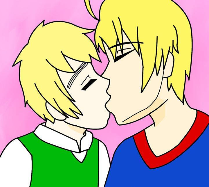 Hetalia USUK Kiss - Bubbly12's Art