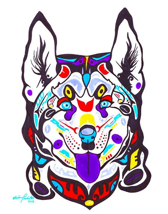 Alaskan Husky - Pastel Palette