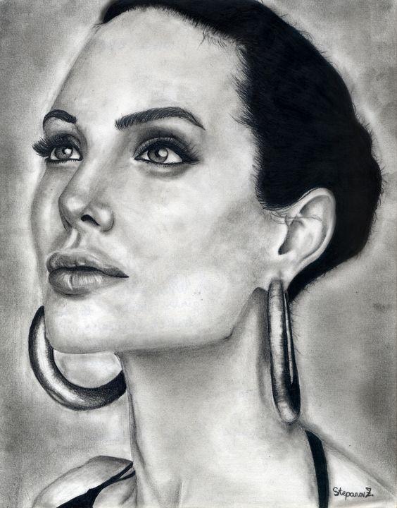 Angelina Jolie Portrait - StepanovArt