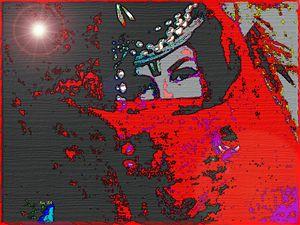 Smiling eyes behind the veil