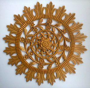 Wood carved rosette - unique. - UNIKAT
