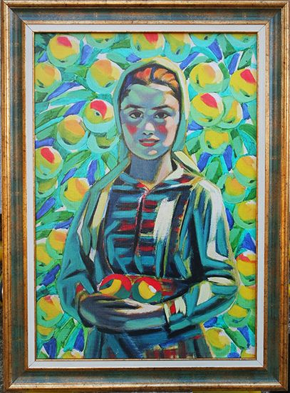 The Girl with the Apples - UNIKAT